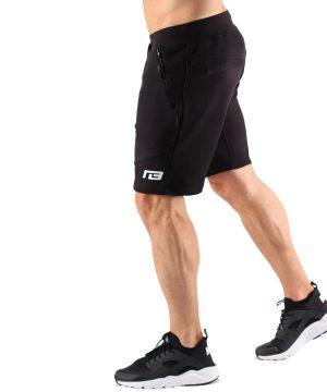 Fitness Shorts Heren Zwart - Muscle Brand-2