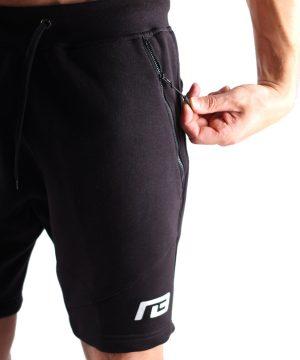 Fitness Shorts Heren Zwart - Muscle Brand-4