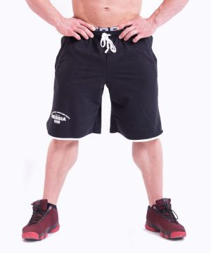 Fitness Shorts Heren Zwart - Nebbia 345-1