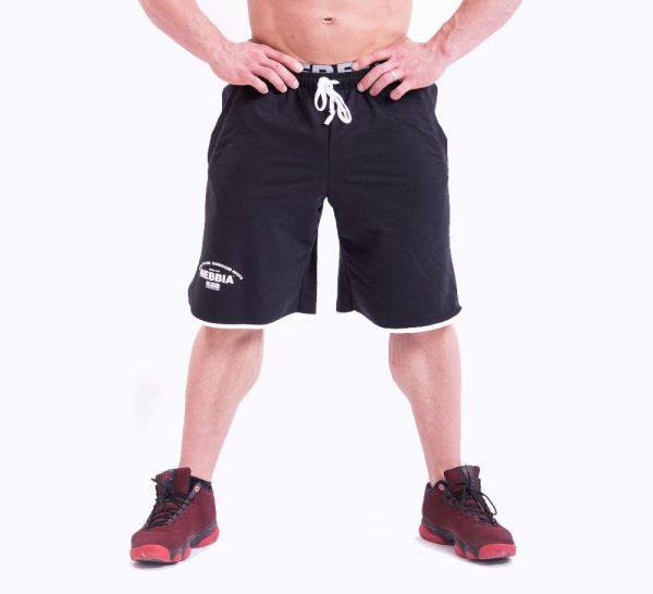 Fitness Shorts Heren Zwart - Nebbia 345-1