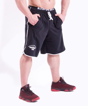 Fitness Shorts Heren Zwart - Nebbia 345-2