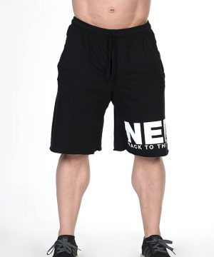 Fitness Shorts Heren Zwart - Nebbia Hard Core 343-1