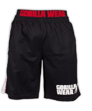 Fitness Shorts Heren Zwart Rood - Gorilla Wear California-1