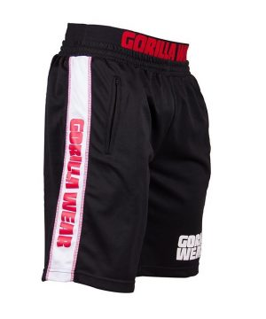 Fitness Shorts Heren Zwart Rood - Gorilla Wear California-2