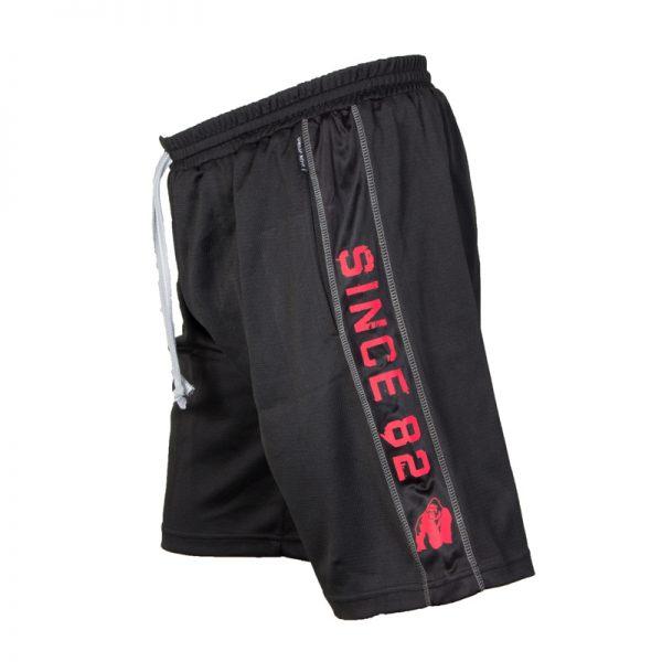 Fitness Shorts Heren Zwart Rood - Gorilla Wear Functional Mesh-2