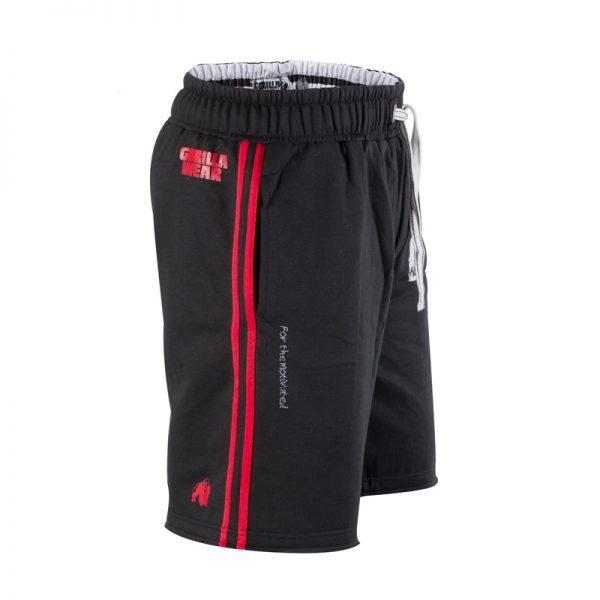 Fitness Shorts Heren Zwart Rood - Gorilla Wear Functional Mesh-3