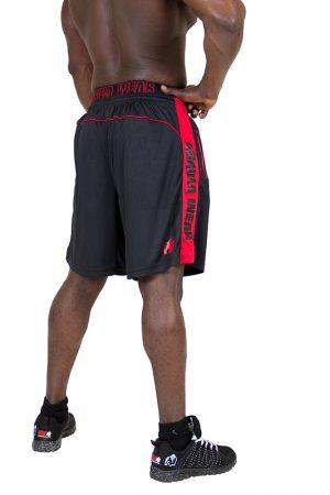 Fitness Shorts Heren Zwart Rood - Gorilla Wear Shelby-2