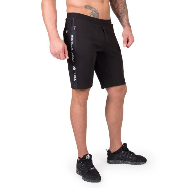 Fitness Shorts Heren Zwart Saint Thomas - Gorilla Wear-1