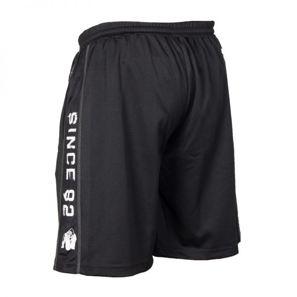 Fitness Shorts Heren Zwart Wit - Gorilla Wear Functional Mesh-2