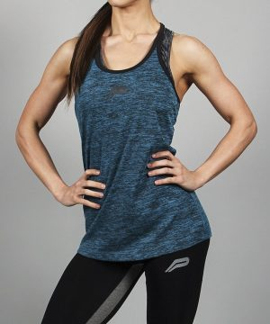 Fitness Singlet Dames Blauw - Pursue Fitness-1