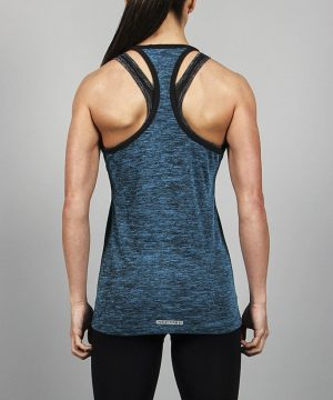 Fitness Singlet Dames Blauw - Pursue Fitness-4