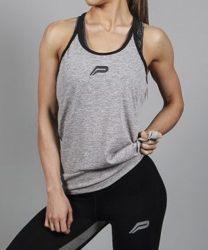 Fitness Singlet Dames Grijs - Pursue Fitness-1