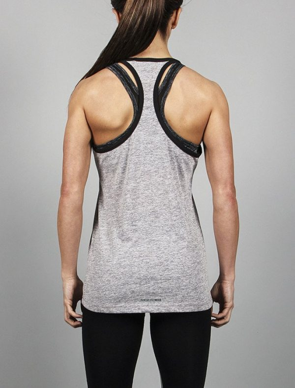 Fitness Singlet Dames Grijs - Pursue Fitness-4