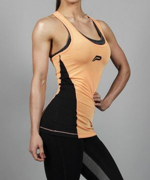 Fitness Singlet Dames Oranje - Pursue Fitness Iconic Slub Vest-3