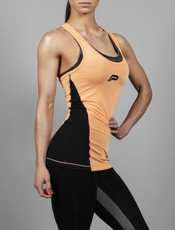 Fitness Singlet Dames Oranje - Pursue Fitness Iconic Slub Vest-3