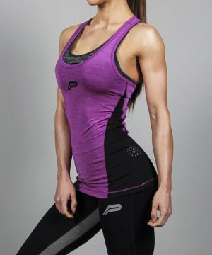 Fitness Singlet Dames Slub Paars - Pursue Fitness-1