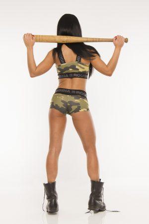 Fitness Sporttop Dames Camo Groen - Nebbia 206-2