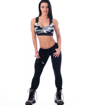 Fitness Sporttop Dames Camo Wit - Nebbia 206-1