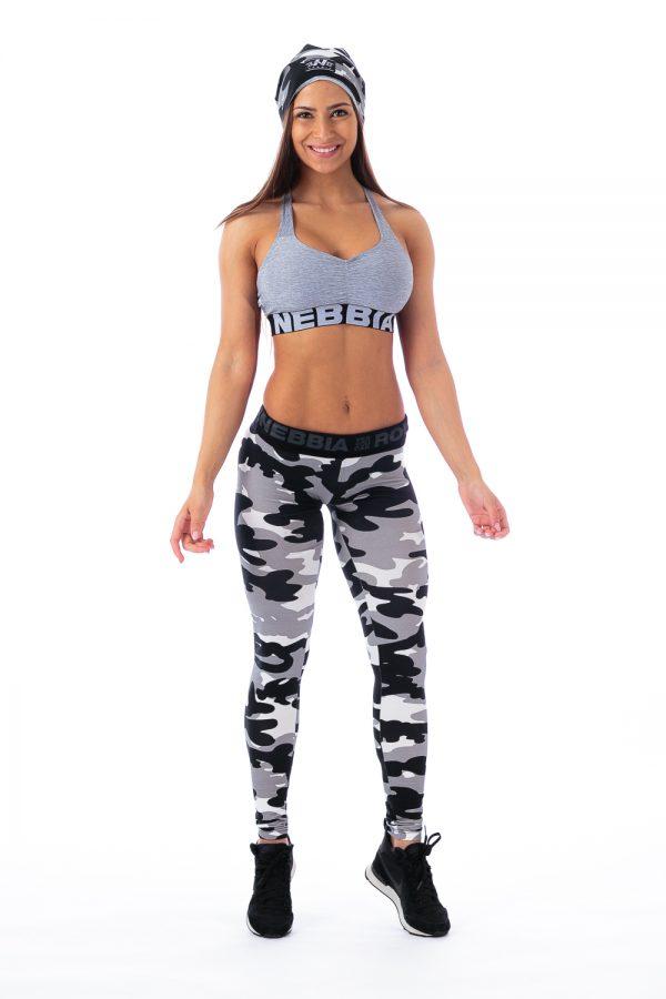 Fitness Sporttop Dames Grijs Gemeleerd - Nebbia 223-1