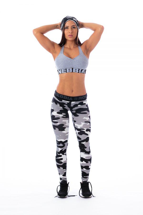 Fitness Sporttop Dames Grijs Gemeleerd - Nebbia 223-2