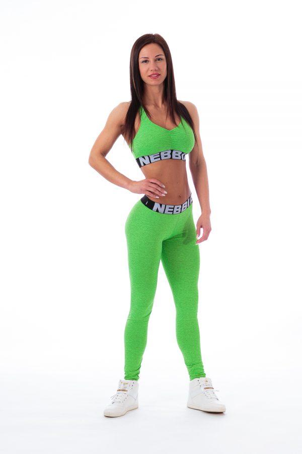 Fitness Sporttop Dames Groen Gemeleerd - Nebbia 223-1