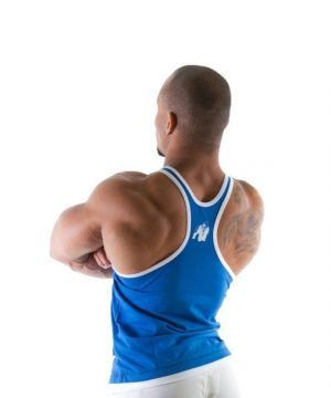 Fitness Stringer Heren Blauw - Gorilla Wear-2