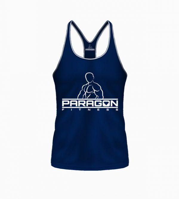 Fitness Stringer Heren Blauw - Paragon Fitness-1