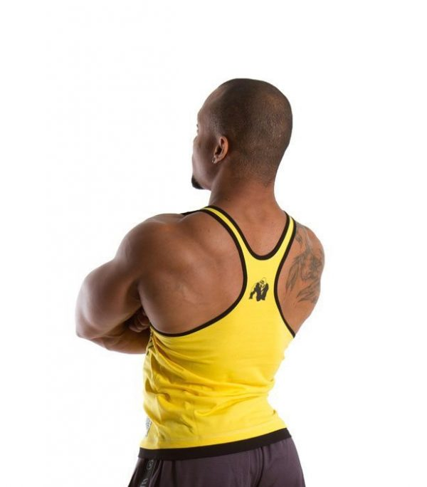 Fitness Stringer Heren Geel - Gorilla Wear-2