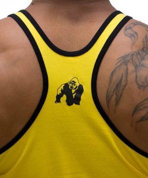 Fitness Stringer Heren Geel - Gorilla Wear-3