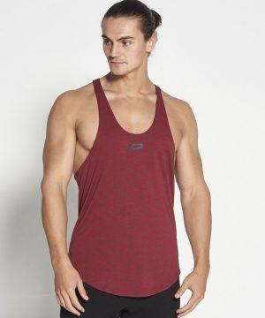 Fitness Stringer Heren Slub Rood - Pursue Fitness-1