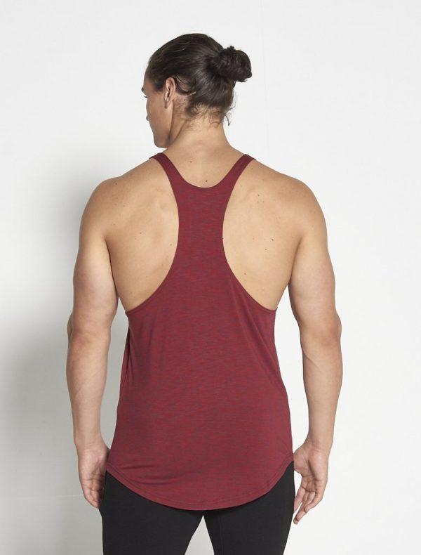 Fitness Stringer Heren Slub Rood - Pursue Fitness-2