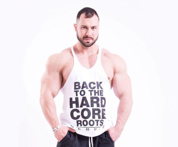 Fitness Stringer Heren Wit - Nebbia 399-1
