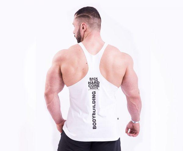 Fitness Stringer Heren Wit - Nebbia 399-2