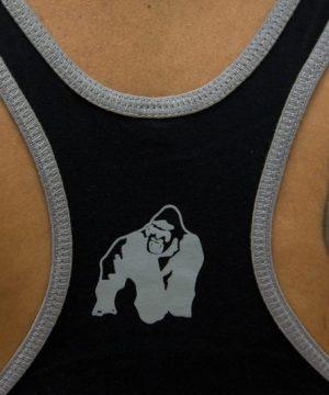 Fitness Stringer Heren Zwart - Gorilla Wear-3