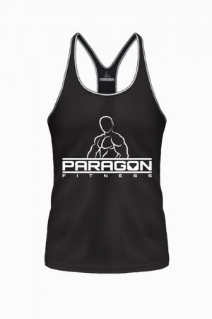 Fitness Stringer Heren Zwart - Paragon Fitness-1