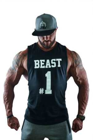 Fitness Tank Top Heren Beast #1 Zwart - Muscle Brand-1