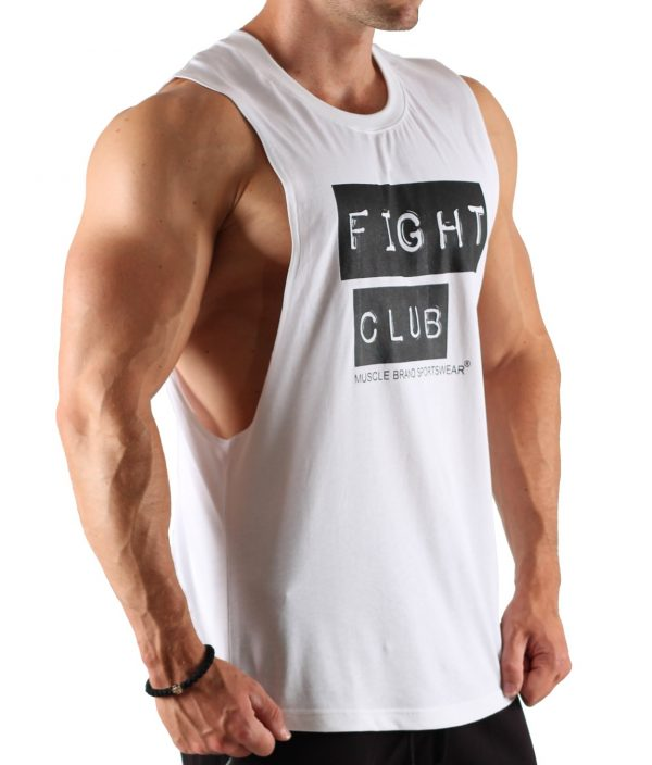 Fitness Tank Top Heren Fight Club Wit - Muscle Brand-2