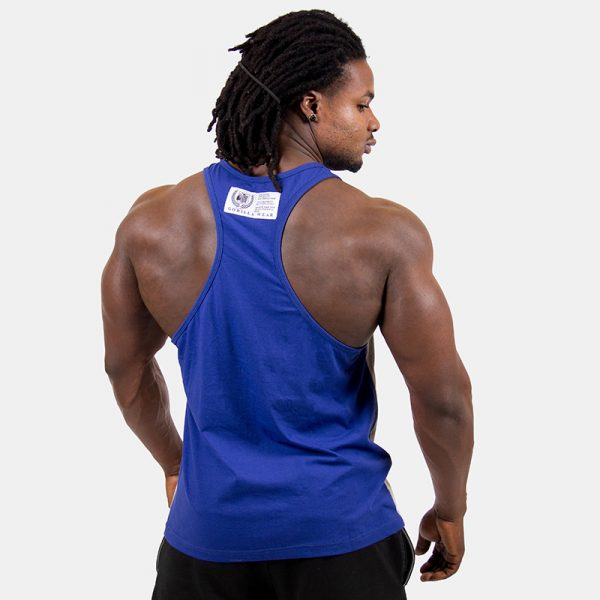 Fitness Tank Top Heren Grijs Blauw - Gorilla Wear Roswell-2