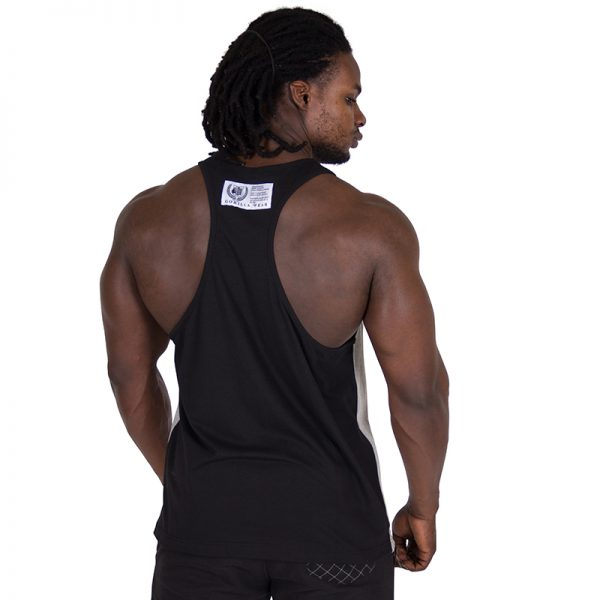 Fitness Tank Top Heren Grijs Zwart - Gorilla Wear Roswell-1