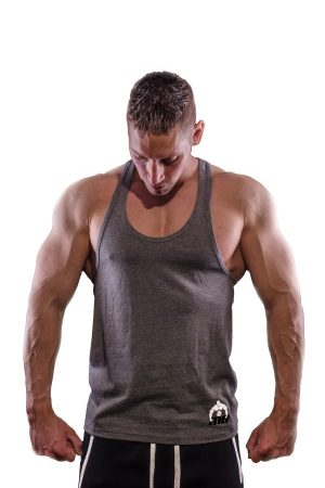 Fitness Tank Top Heren One Grijs - Muscle Brand