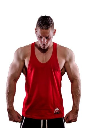 Fitness Tank Top Heren One Rood - Muscle Brand-1
