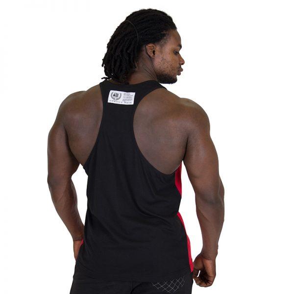 Fitness Tank Top Heren Rood Zwart - Gorilla Wear Roswell-2