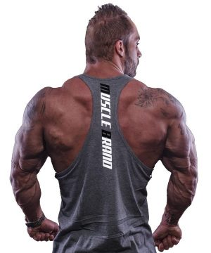 Fitness Tank Top Heren Typed Grijs - Muscle Brand-2