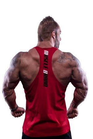 Fitness Tank Top Heren Typed Rood - Muscle Brand-2