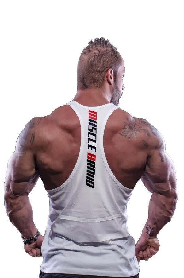 Fitness Tank Top Heren Typed Wit - Muscle Brand-2