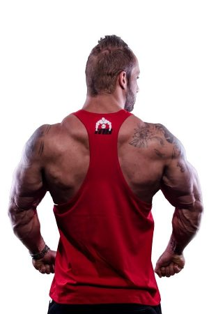 Fitness Tank Top Heren Vertical Rood - Muscle Brand-2