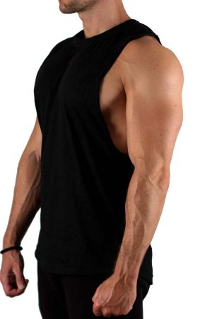 Fitness Tank Top Heren Worn-Out Zwart - Muscle Brand-2