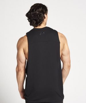 Fitness Tank Top Heren Zwart Cut Off - Pursue Fitness-2