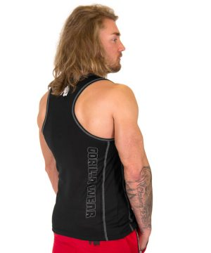 Fitness Tank Top Heren Zwart Zilver - Gorilla Wear Kenwood-3