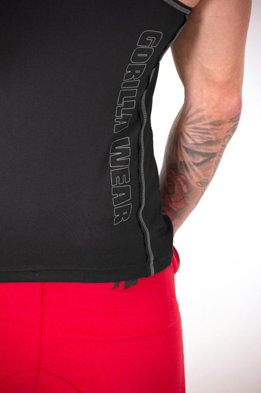 Fitness Tank Top Heren Zwart Zilver - Gorilla Wear Kenwood-4